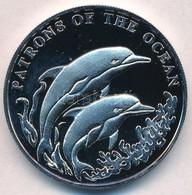Zambia 2001. 1000K Cu-Ni 'Két Delfin' T:PP Ujjlenyomat Zambia 2001. 1000 Kwacha Cu-Ni 'Two Dolphins' C:PP Fingerprints K - Unclassified