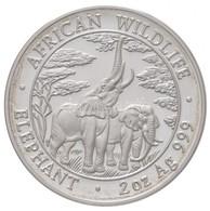 Zambia 2003. 1000K Ag 'Elefánt' + 2000K Ag 'Elefánt' + 5000K Ag 'Elefánt' + 10.000K Ag 'Elefánt' összesen 116,23g Súlyba - Unclassified