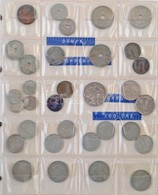 98db-os Vegyes Külföldi Fémpénz Tétel Albumba Rendezve, Közte Albánia, Belgium, Dánia, Kína (közte Hamis Darabokkal) T:v - Unclassified