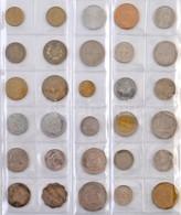 114db-os Vegyes Fémpénz Gyűjtemény Afrikai Országokból, Piros Albumban T:vegyes 114pcs Of Various Metal Coins From Afric - Unclassified