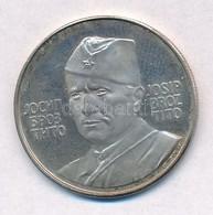 Jugoszlávia 1973. 'Tito' Ag Emlékérem (7,97g/0.925/28mm) T:2 (PP) Yugoslavia 1973. 'Tito' Ag Medallion (7,97g/0.925/28mm - Unclassified