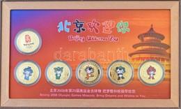 Kína 2008. 'Pekingi Olimpia 2008. Kabalaállatok Sorozat' Aranyozott Br Emlékérem (6xklf), Eredeti Dísztokban, Angol és K - Unclassified
