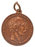 Német Birodalom 1888. 'II. Vilmos / Kormányzás Megkezdése' Fém Emlékérem Füllel (22mm) T:2,2- Ph. German Empire 1888. 'W - Unclassified