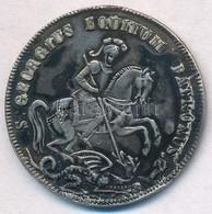 DN 'Szent György' Jelzett Ag Emlékérem (5,86g/28mm) T:2- Patina,fülnyom ND 'Saint George' Hallmarked Ag Commemorative Me - Unclassified