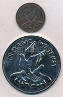 DN 'In Magic We Trust' 2xklf Bűvészpénz T:1-,2 ND 'In Magic We Trust' 2xdiff Magician Coins C:AU,XF - Unclassified