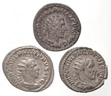 Római Birodalom / Antiokheia / I. Philippus 244. Antoninianus Ag (3,66g) + Róma 244-249. Antoninianus Ag (3,51g) + Anton - Unclassified