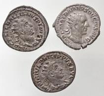 Római Birodalom / Antiokheia / I. Philippus 249. Antoninianus Ag (3,57g) + Róma / Traianus Decius 250-251. Antoninianus  - Unclassified