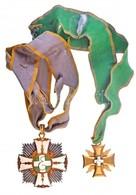 ~1921-1946. 'Foederatio Emericana Nagyúri Kereszt' Aranyozott és Zománcozott Kitüntetés Nyakszalaggal + 'Foederation Eme - Unclassified