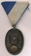 ~1936. 'Budapesti Labdarúgók Alszövetsége 1926 / Ujonc Dij. Vedres Csop. I. 1935-1936' Br Díjérem Szalagon (44x32mm) T:2 - Unclassified
