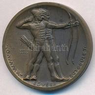 Berán Lajos (1882-1943) ~1940. 'Gamma Lövész Egyesület' Br Díjérem (32mm) T:1-,2 - Unclassified
