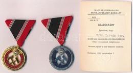 ~1970. 'Bányász Szolgálati Érdemérem Arany Fokozata' Aranyozott és Zománcozott Kitüntetés Mellszalagon + 1965. 'Bányász  - Unclassified