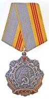 Szovjetunió 1974. 'Munka Érdemrend III. Osztálya' Zománcozott Ag Kitüntetés Mellszalaggal, Hátoldalán Sorszám (40mm) T:1 - Unclassified