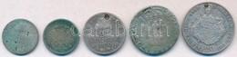 5db-os Vegyes Magyar és Külföldi Rossz Tartású Ezüstpénz Tétel T:2-,3,3- Ly. 5pcs Of Various Silver Coins In Bad Conditi - Unclassified