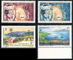 POLYNESIE 1964 - Yv. 27 28 32 33 **   Cote= 13,40 EUR - Danseuses Et Paysages (4 Tp) ..Réf.POL23106 - Ungebraucht