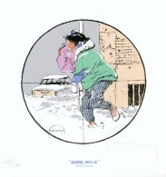HERMANN : Exlibris Librairie ZARG BULLE (ns) - Illustrators G - I
