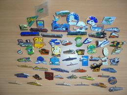 """LOT DE 65 PIN'S THEME    """" SNCF - TRAINS- TGV"""" - Badges"""