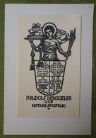 Ex-libris Illustré Suisse XXème - P. RUDOLF HENGGELER - O.S.B. NOTARII APOSTOLICI - Ex Libris