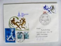 SALE! Cover Ussr Olympic Games Moscow 1980 Liepaja  Special Cancel Fdc Football - Letonia