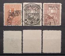 Dt.Reich Besetzung Rumänien Porto 1917 - 1918 Mi.Nr.8b,1b,2b Gestempelt    (K264) - Besetzungen 1914-18