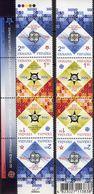 Kehrdrucke 2006 Ukraina 766/7A 2x Im 4-Streifen Als KD-Paar ** 15€ EUROPA-Jubiläum Waps Se-tenants Bf 50 Jahre CEPT - Ukraine