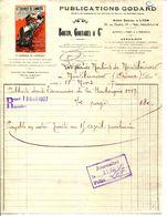 """LYON."""" LE COURRIER DU COMMERCE """" PUBLICATIONS GODARD. - Imprimerie & Papeterie"""