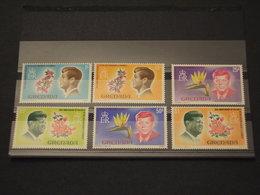 GRENADA - 1968 KENNEDY/FLORA  6 VALORI - NUOVI(++) - Grenada (...-1974)