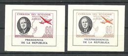 ECUADOR 1949 Roosevelt Michel 189 & 193 Dienstmarken Blocks MNH - Ecuador