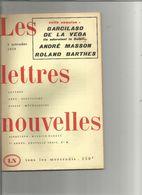 """Revue """" Les Lettres Nouvelles"""" No 28 4 Nov 1959  Garcilaso De La Vega  André Masson Roland Barthes Envoi 2,50 - Cinema"""