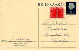 6-12-1957 Bijgefrankeerde Bk G315   Van Limmen Naar Amsterdam - Postal Stationery