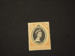 NYASSALAND - 1953 REGINA - NUOVI(++) - Southern Rhodesia (...-1964)
