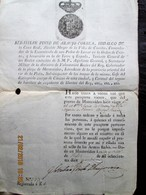 PORTUGAL - 1818 MONTEVIDEO DOMINATION - COAT OF ARMS PAPER Giving TRAVEL PASSPORT For GALICIA Boat With Slave On Board - Documentos Históricos