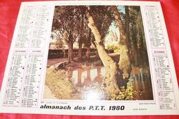CALENDRIER  ALMANACH Des  PTT  1980 - Big : 1971-80