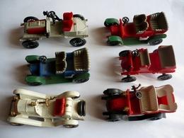BEAU LOT DE 6 AUTOS TACOTS  PLASTIQUE - Publicité HUILOR - MADE IN FRANCE - CLE Et AUTRES - Carros