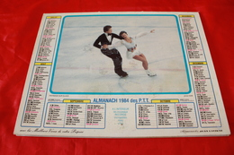CALENDRIER  ALMANACH Des  PTT  1984 - Big : 1981-90