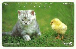 Giappone - Tessera Telefonica Da 105 Units T353 - NTT - Cats
