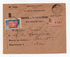 !!! PRIX FIXE : COTE D'VOIRE, LETTRE RECOMMANDEE DE BOUAFLE POUR LA FRANCE DE 1929 - Côte-d'Ivoire (1892-1944)