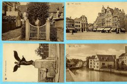 4x LIER (1) : Kalvarieberg - Groote Markt - Werf Fortuin - Monument Der Gesneuvelden - Lier