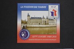 France - 2010 83ème Congrès Paris Conciergerie Feuillet FFAP N° 4 Neuf ** - FFAP