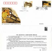 PFN2005-7 China 2005-23 Leopard & Cougar 2V  Joint Canada Commemorative Cover - 1949 - ... People's Republic
