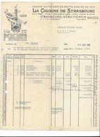 F77 -  Grande Distillerie De Fruits La Cigogne De Strasbourg Facture En 1952 - Alimentaire