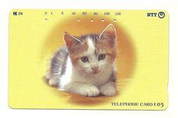 Giappone - Tessera Telefonica Da 105 Units T354 - NTT - Cats