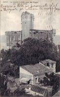 LERICI-LA SPEZIA-LO STORICO CASTELLO VISTO DAL POGGIO-CARTOLINA VIAGGIATA IL 7-9-1927 - La Spezia