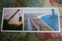 Russia. Kalmykia Republic. Ove Sarpinskaya -  Old USSR Postcard  - Plane - Avion - 1980s - 1946-....: Moderne