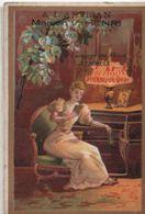 Chromo /Habillements/Langage Des Fleurs/L'Acacia/à L'Artisan/Maison V Henri/Rue Du Terrier/VINCENNES/Vers 1900    IMA386 - Cromo