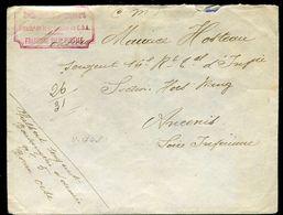 """Enveloppe En FM , Cachet """" Boulangerie De Campagne N°5 """" En Rouge Pour Ancenis En 1916 - Ref F193 - Marcofilie (Brieven)"""