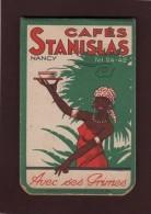 CALEPIN - Bloc-note - CAFES  STANISLAS  à  NANCY.  Des Années 1950/1960 - 4 Scannes - Advertising