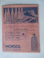 Vloeipapier Buvard Morsol Levertraan Huile De Foie De Morue Form 13,5 X 17 Cm Gebruikt Utilisé - Drogisterij En Apotheek