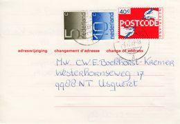 6-7-1989 Bijgefrankeerde Adreswijziging G44 Van Bedum Naar Usquert - Postal Stationery