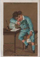 Chromo Fond Doré/A Sainte Marie/Vêtements/Ecolier S'endormant Sur Ses Leçons/Rue Rambuteau/Casabianca/Vers 1880   IMA389 - Cromo