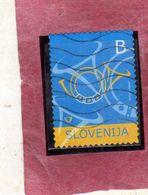 SLOVENIA SLOVENIJA SLOVENIE SLOWENIEN 2004 POSTHORNS CORNI POSTALI B USATO USED OBLITERE' - Slovenia